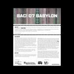 BAC Babylon - Barcelona 2007