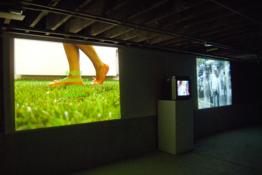 The Slowly Project. Videoinstallation view at Gallery Project, Ann Arbour, USA, 2012